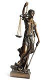 Themis. On a photo Antique Statue of justice Stock Photo
