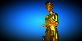 Themis. Against cloudy  blue sky Stock Photography