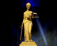 Themis in court. Law abstract composition Stock Photo