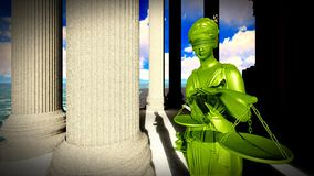 Themis in court Stock Photography