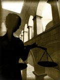 Themis in court Stock Images