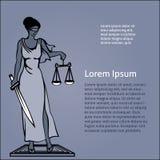 Themis - dea di giustizia Illustrazione di vettore Fotografie Stock Libere da Diritti