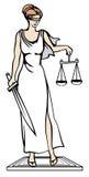 Themis - dea di giustizia Illustrazione di vettore Immagini Stock Libere da Diritti