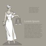 Themis - dea di giustizia Illustrazione di vettore Fotografia Stock Libera da Diritti