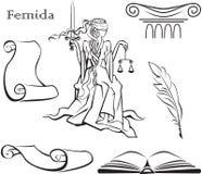 Themis - diosa de la justicia Foto de archivo