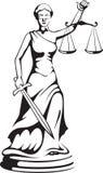 Themis - eine Göttin von Gerechtigkeit stockbild