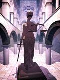 Themis el símbolo de la justicia Fotografía de archivo