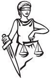 Themis Femida - dea di giustizia Immagine Stock Libera da Diritti