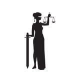 Themis Femida justice symbol Stock Image
