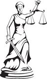 Themis - a goddess of justice Stock Image