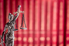 Themis - goddess of justice the symbol of law Stock Images