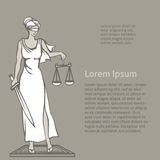 Themis - goddess of justice.Vector illustration Royalty Free Stock Photo