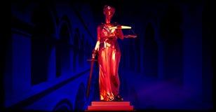 Themis i domstol Arkivfoton