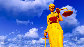Themis - lady of justice Stock Images