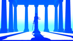 Themis - lady of justice in court Royalty Free Stock Photos