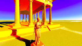 Themis - lady of justice in court Royalty Free Stock Images