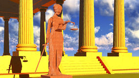 Themis - lady of justice in court Stock Photo