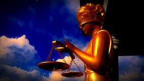 Themis - lady of justice in court Stock Photography