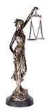 Themis, mythological Greek goddess, isolated over white backgrou Royalty Free Stock Photography