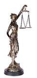 Themis mytologisk grekisk gudinna som isoleras över den vita backgrouen Royaltyfri Fotografi