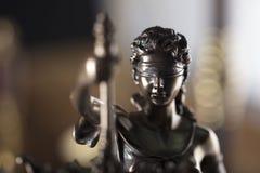 Themis och domareantikvitetauktionsklubba Lagsymboler Royaltyfria Bilder
