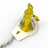 Themis statue and handcuffs Stock Image