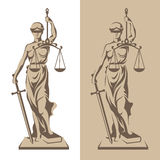 Themis statue illustration Stock Image