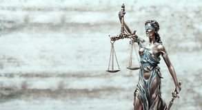 Themis Statue Justice Scales Law Lawyer Business Concept.  royalty free stock photo