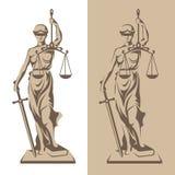 Themis statuy ilustracja Obraz Stock