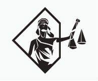 Themis-Symbol lizenzfreie abbildung