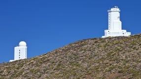 Themis and VTT Vacuum Tower Telescope Stock Photo