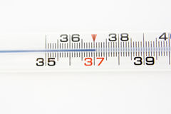 Themometer over white background Royalty Free Stock Photo