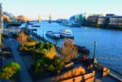 Themse-Ansicht. London-Fluss stockfoto