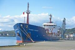 Themse Fisher in Inverness Lizenzfreie Stockbilder