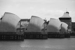 Themsenbarriär, London Arkivfoto