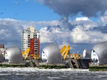 Themsenflodbarriär Arkivbilder