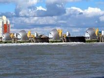 Themsenflodbarriär Arkivfoton