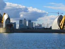 Themsenflodbarriär Fotografering för Bildbyråer