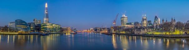 Themsenpanorama Arkivbilder