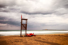 Then summer fades. Summer fades and the autumn arrives in the beach, Sicily, italy Royalty Free Stock Image