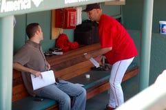 Theo Epstein, GM e Terry Francona, Boston Red Sox imagens de stock royalty free
