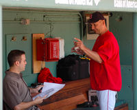 Theo Epstein, GM e Terry Francona, Boston Red Sox fotos de stock royalty free