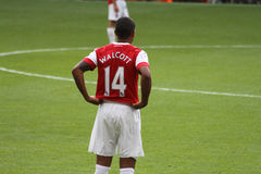 Theo Walcott during a match royalty free stock images