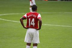 Theo Walcott under en match royaltyfria bilder
