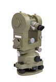 Theodolite. Clasic geodetic measurement device - theodolite Royalty Free Stock Photo