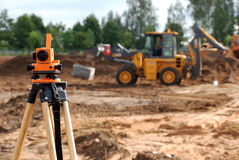 Free Theodolite At Construction Site Stock Image - 12015421