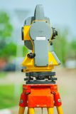 Theodolite back view Royalty Free Stock Image
