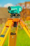 Theodolite close up Royalty Free Stock Image