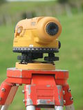 Theodolite Magic. Getting ready to survey new building site Stock Images