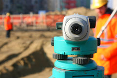Theodolite on site Royalty Free Stock Image